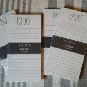 Rae Dunn List Pads, set of 4